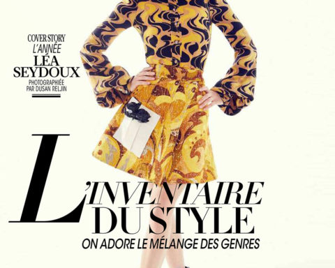 Léa Seydoux covers Madame Figaro March 13th, 2020 by Dusan Reljin