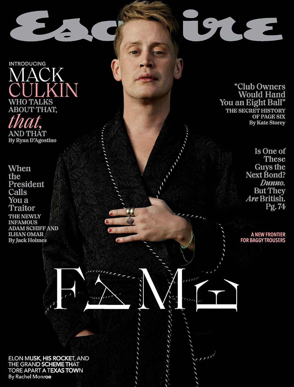 Macaulay Culkin covers Esquire US March 2020 by Robbie Fimmano