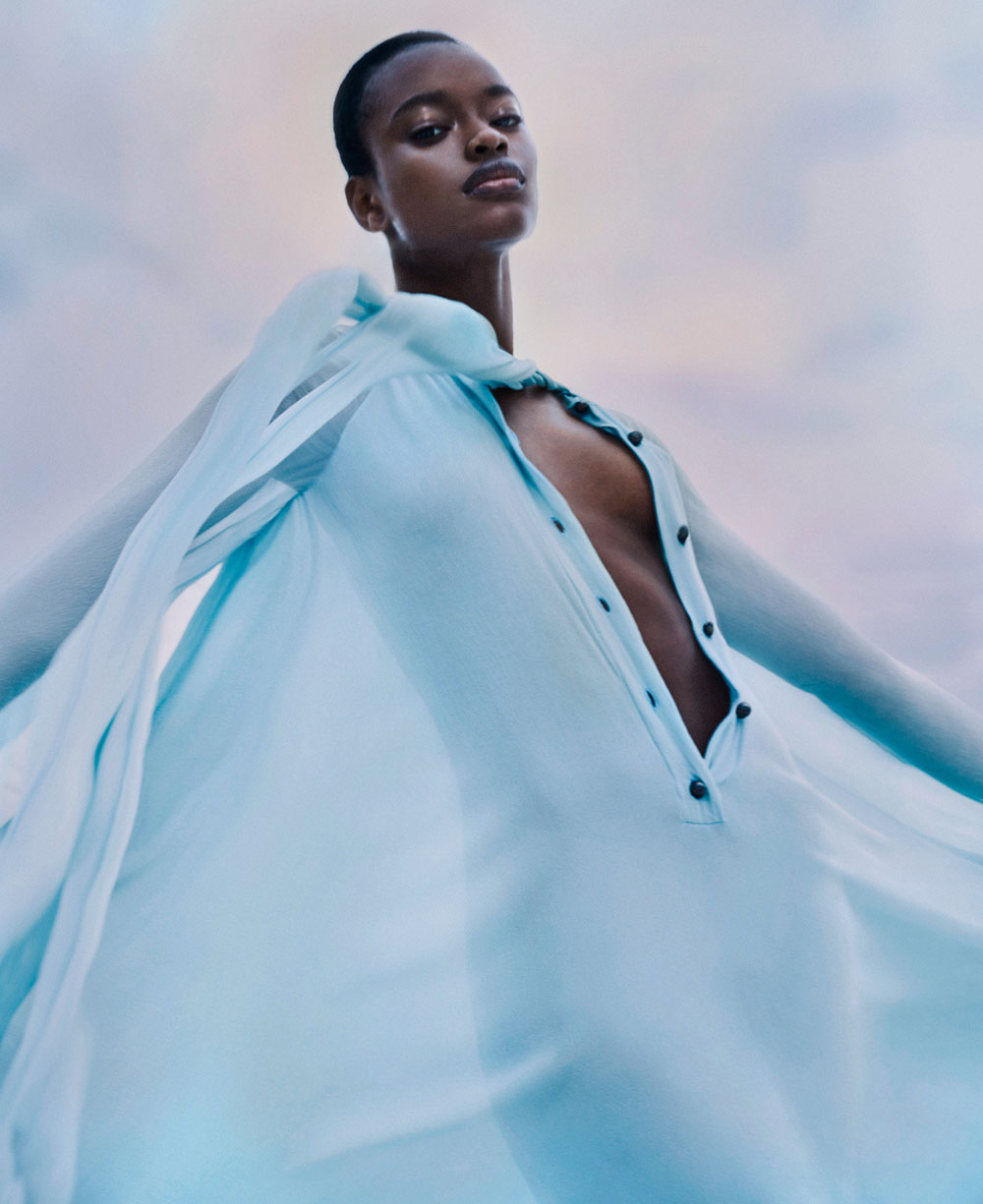 Mayowa Nicholas by Txema Yeste for Harper's Bazaar US March 2020