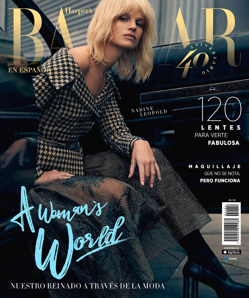 Nadine Leopold covers Harper's Bazaar Mexico & Latin America March 2020 by Dove Shore