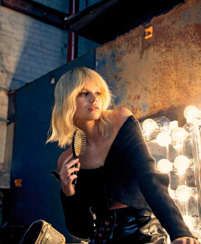 Nadine Leopold covers Harper's Bazaar Mexico & Latin America March 2020 by Dove Shore