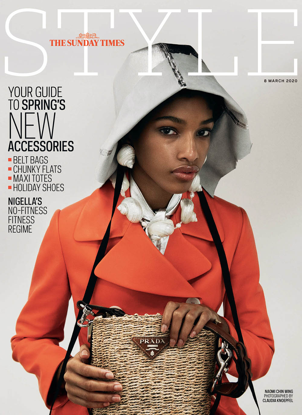 Naomi Chin Wing covers The Sunday Times Style March 8th, 2020 by Claudia Knoepfel