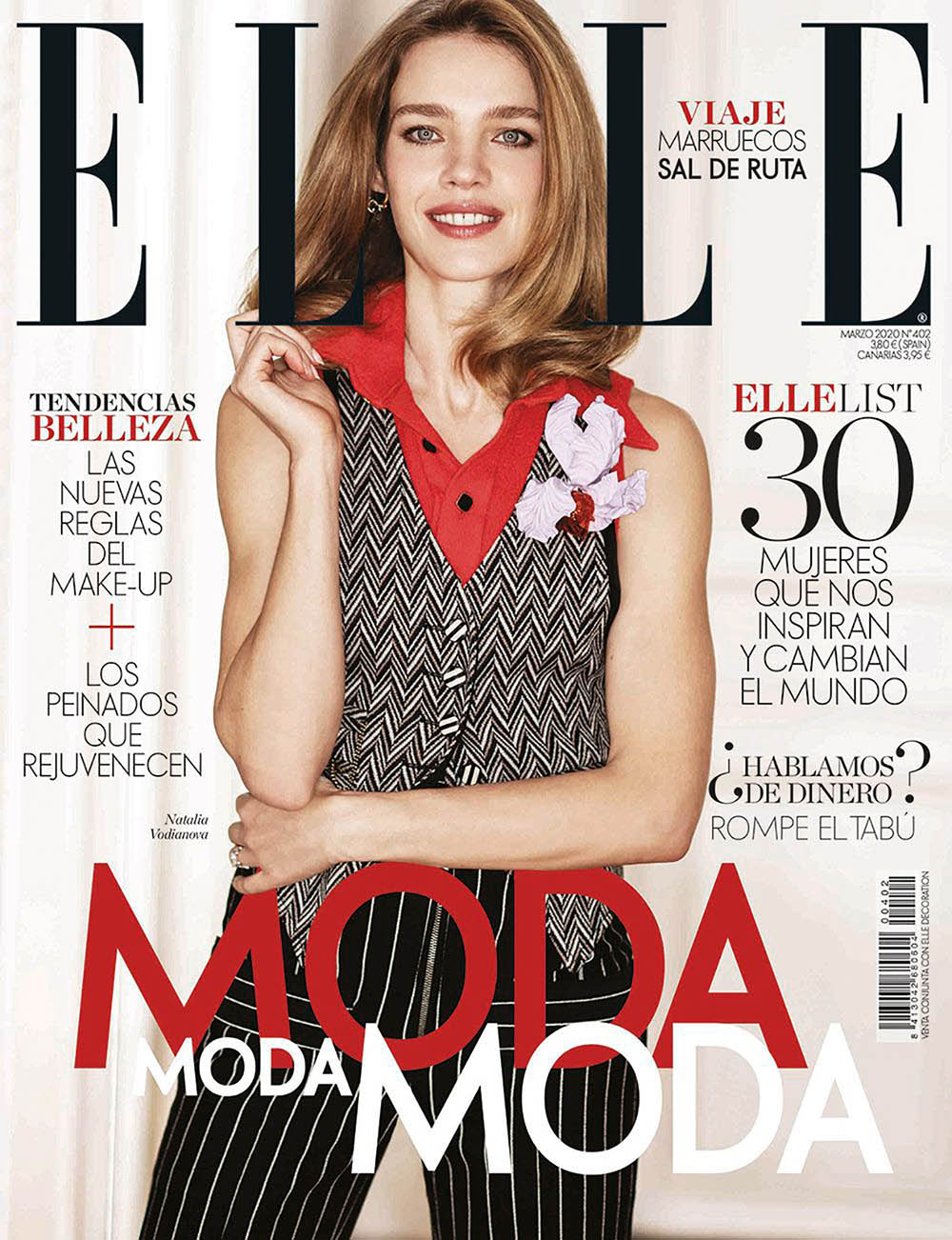 Natalia Vodianova covers Elle Spain March 2020 by Gilles Bensimon