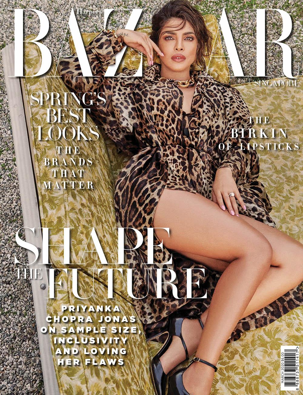 Priyanka Chopra covers Harper's Bazaar Singapore March 2020 by Yu Tsai
