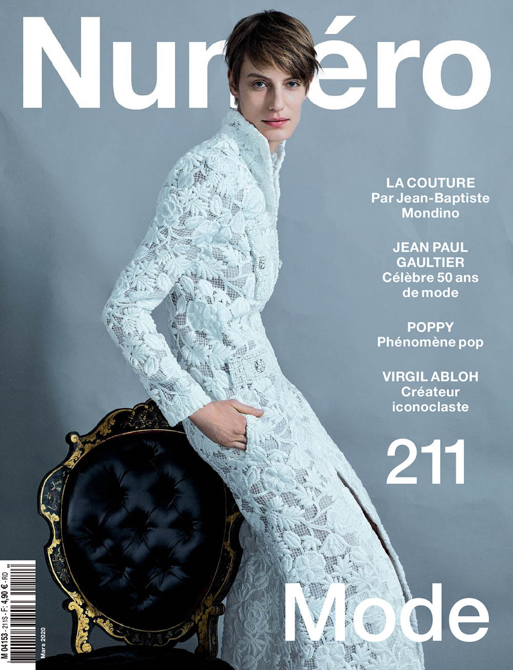 Veronika Kunz covers Numéro March 2020 by Jean-Baptiste Mondino