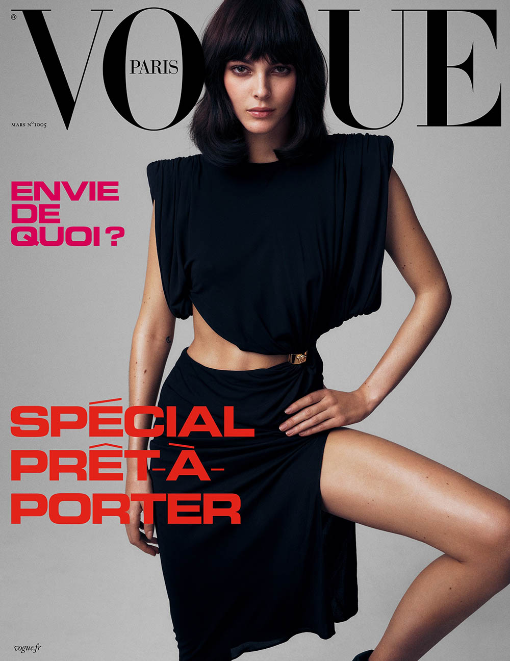 Vittoria Ceretti and Rebecca Leigh Longendyke cover Vogue Paris March 2020 by Mikael Jansson