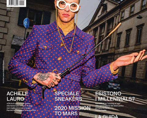 Achille Lauro covers Esquire Italia April 2020 by Bruce Gilden