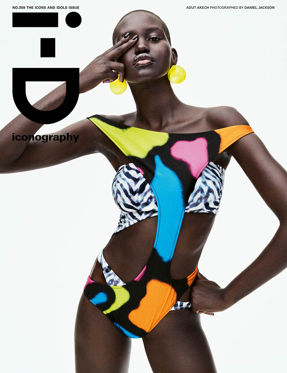 Adut Akech covers i-D Magazine Spring 2020 by Daniel Jackson