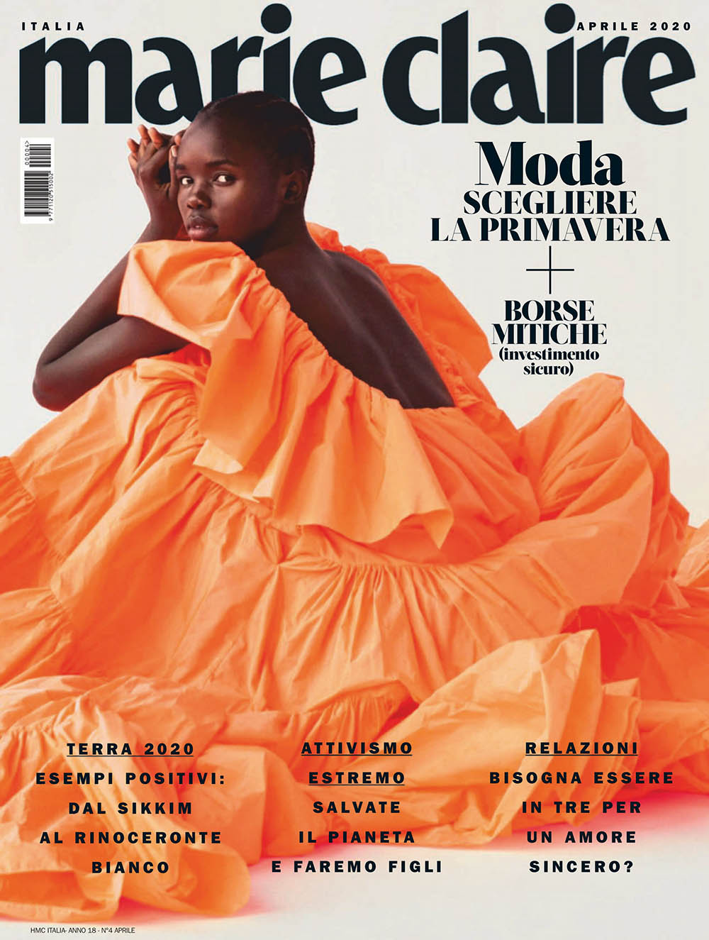Akiima covers Marie Claire Italia April 2020 by David Roemer