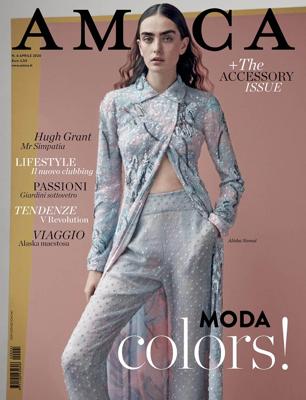 Alisha Nesvat covers Amica Magazine April 2020 by Nicolas Valois