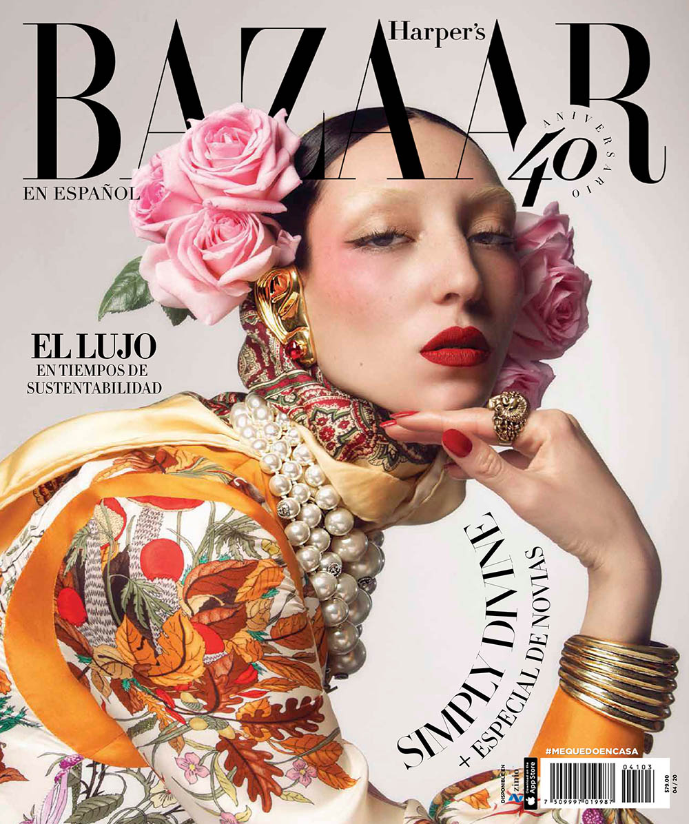 Andrea Carrazco covers Harper's Bazaar Mexico & Latin America April 2020 by Ivan Aguirre