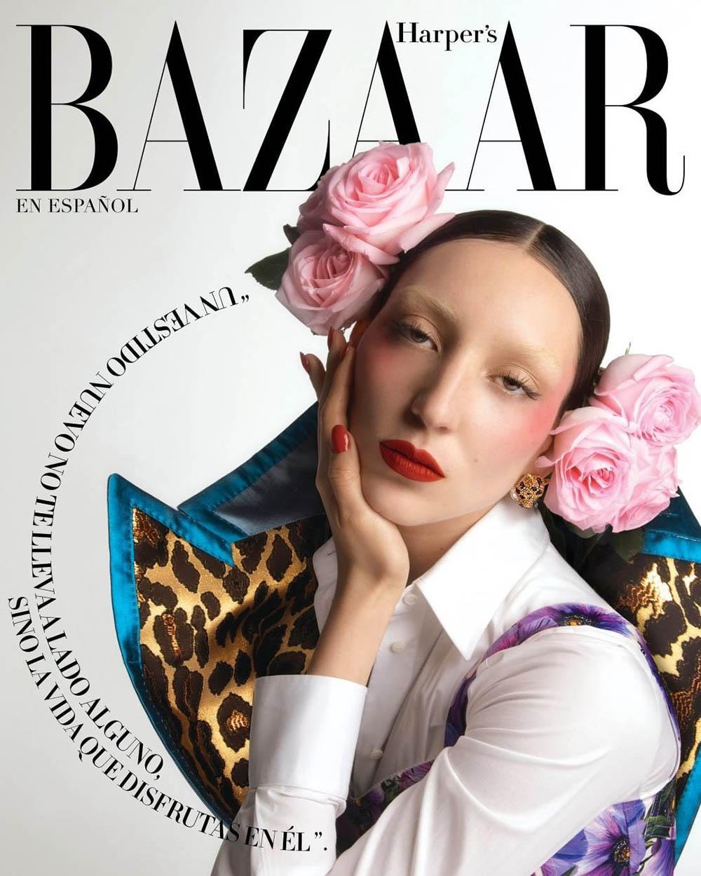 Andrea Carrazco covers Harper's Bazaar Mexico & Latin America April 2020 by Ivan Aguirre