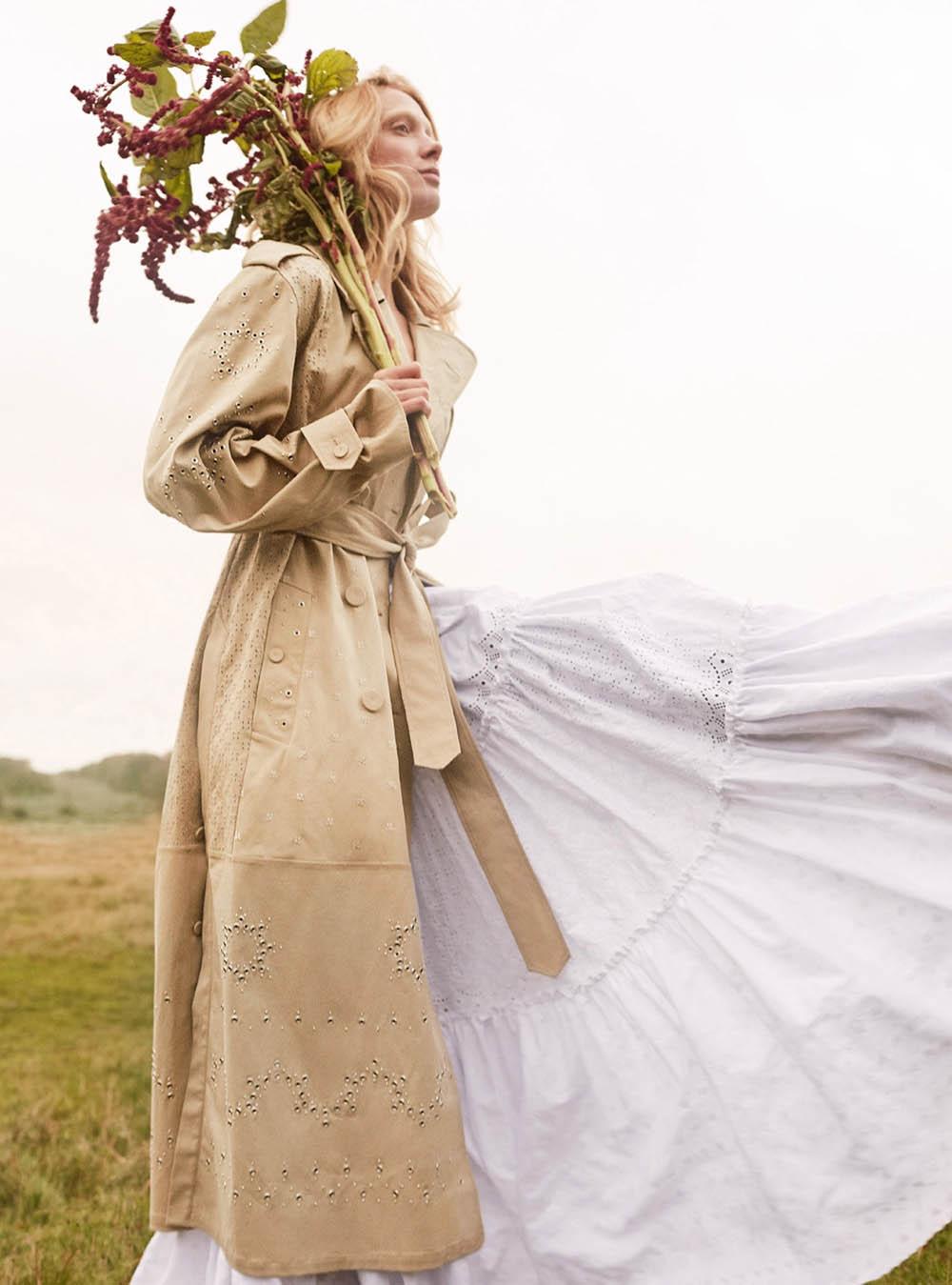 Annely Bouma by Agata Pospieszynska for Harper's Bazaar UK April 2020