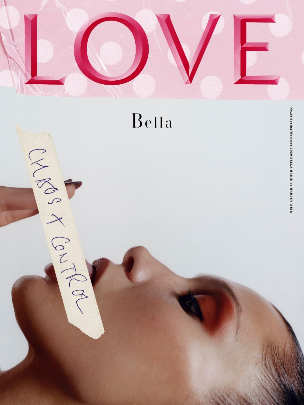 Bella Hadid covers LOVE Magazine Issue 23 by Harley Weir