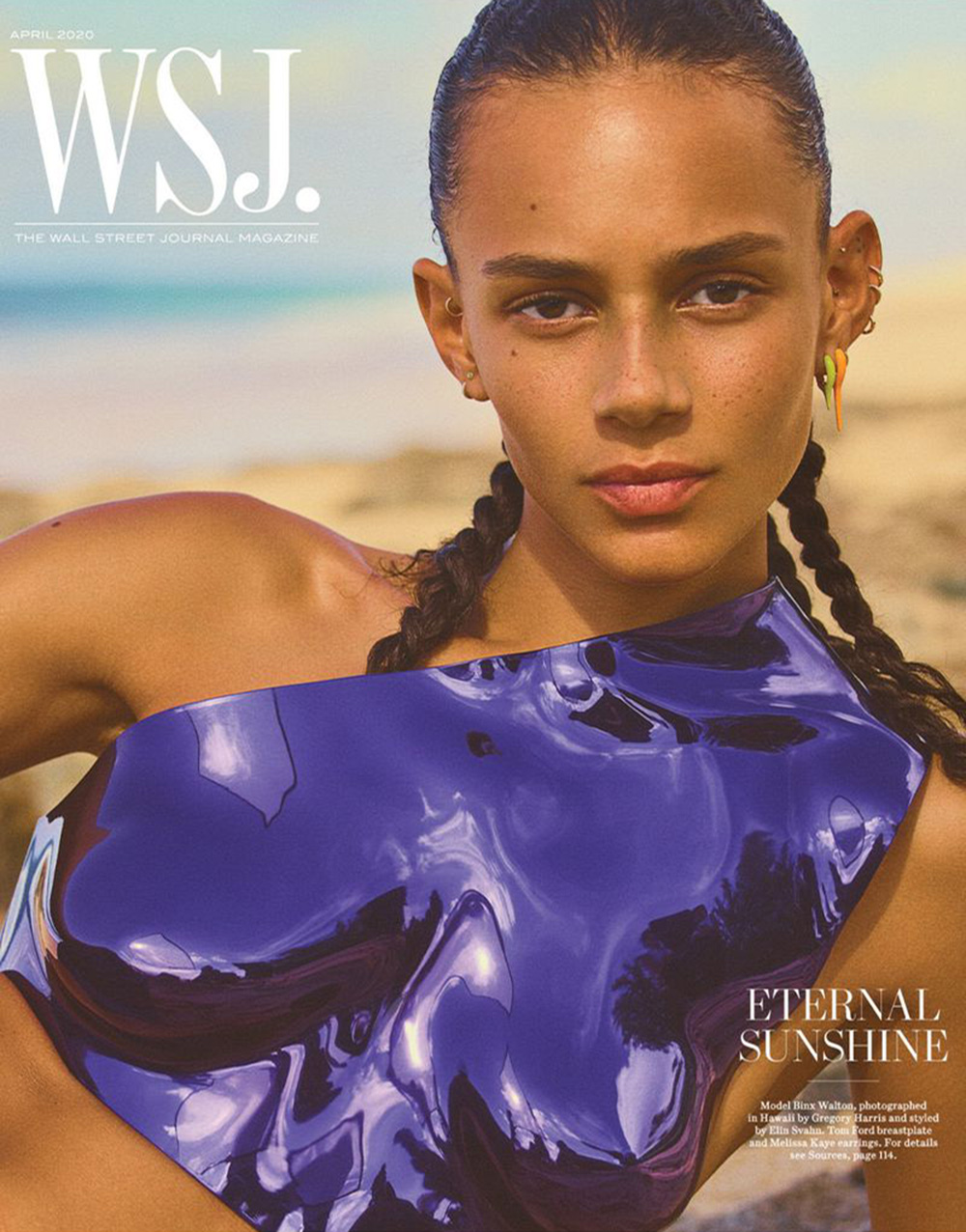 Binx Walton covers WSJ. Magazine April 2020 by Gregory Harris