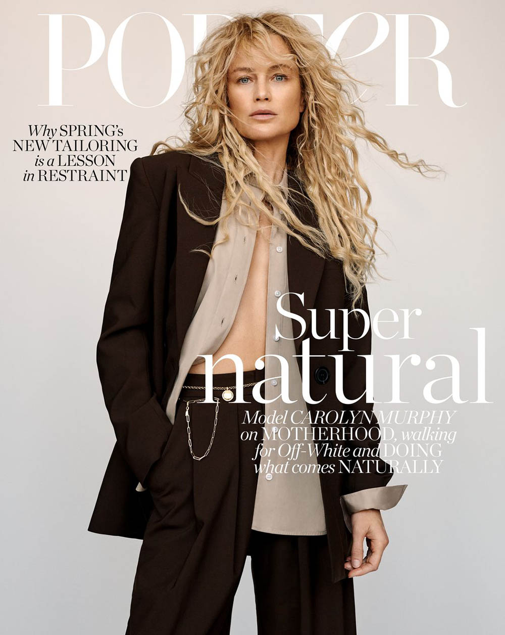 Carolyn Murphy covers Porter Magazine April 20th, 2020 by Alexandra Nataf