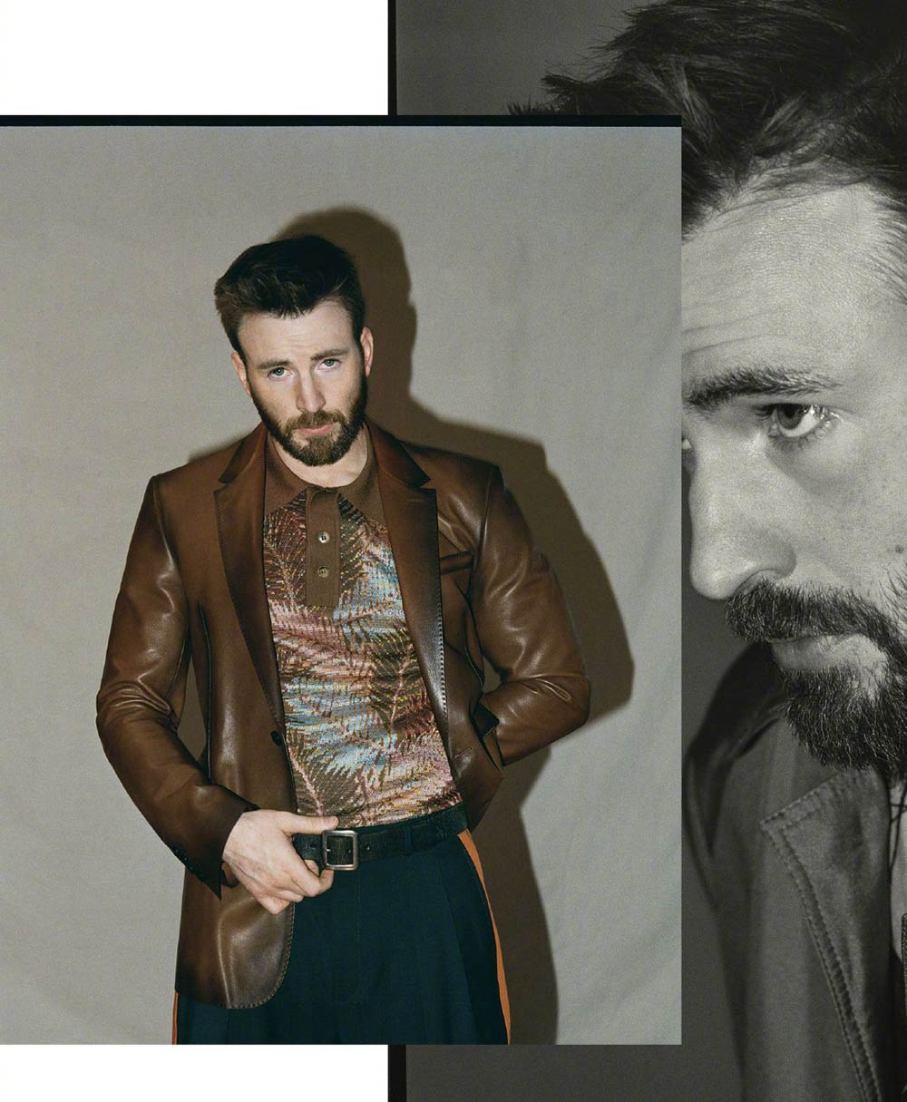 Chris Evans covers Esquire US April May 2020 by Robbie Fimmano