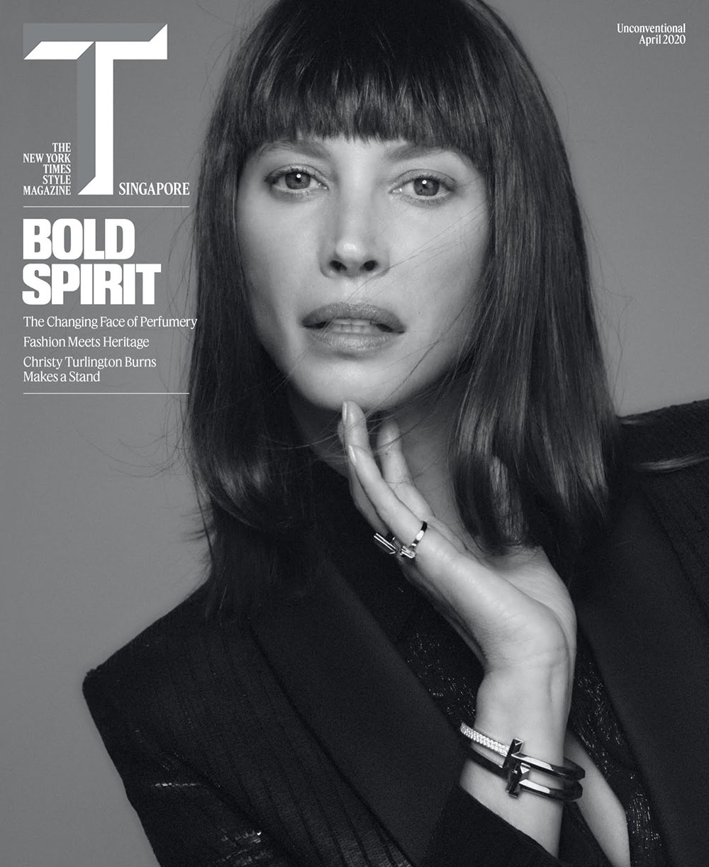 Christy Turlington covers T Magazine Singapore April 2020 by Chris Colls