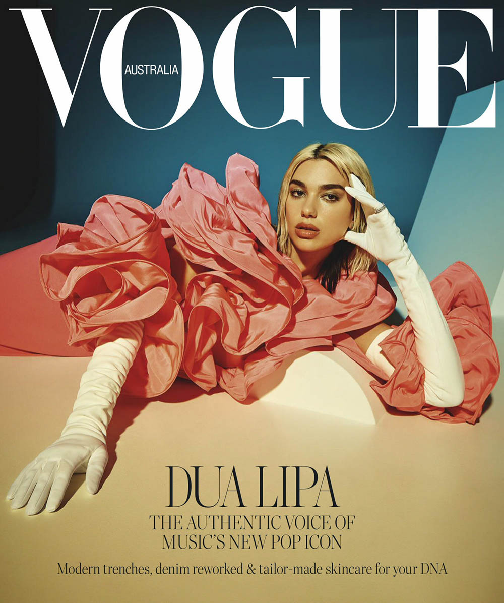 Dua Lipa covers Vogue Australia April 2020 by Charles Dennington