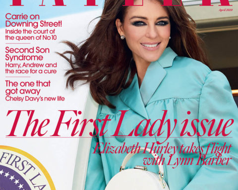 Elizabeth Hurley covers Tatler UK April 2020 by Morelli Brothers