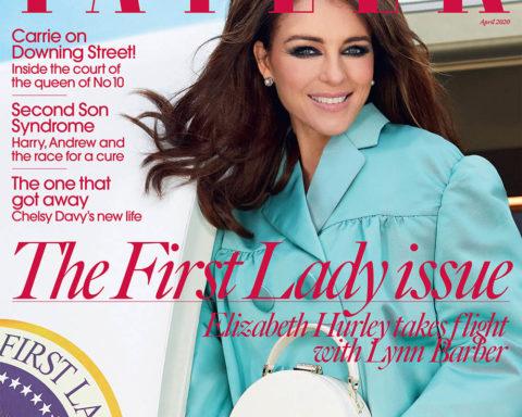 Elizabeth Hurley covers Tatler UK April 2020 by Morelli Brothers