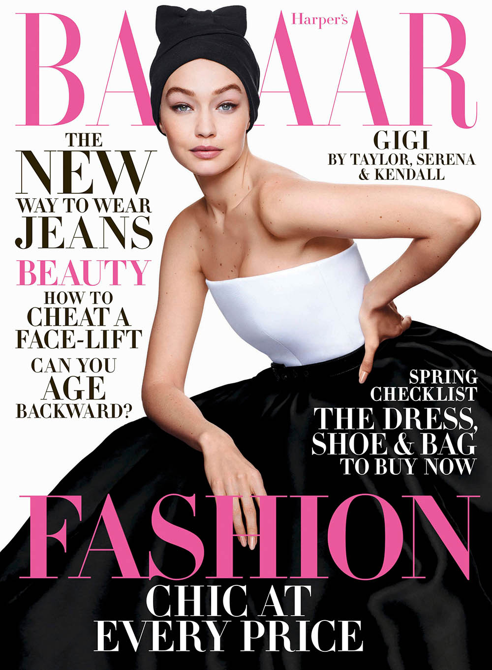 Gigi Hadid covers Harper's Bazaar US April 2020 by Sølve Sundsbø