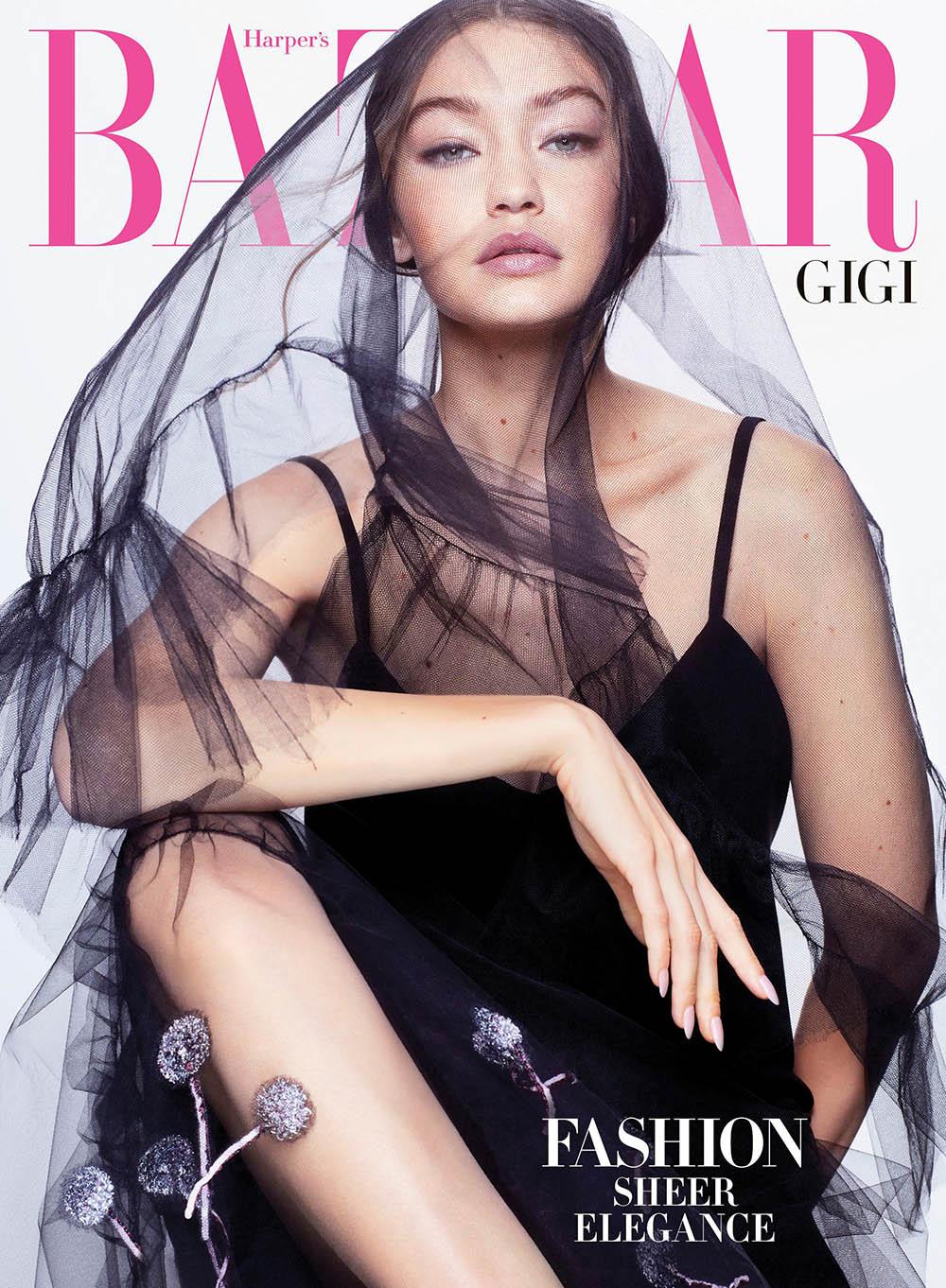 Gigi Hadid covers Harper's Bazaar US April 2020 by Sølve Sundsbø