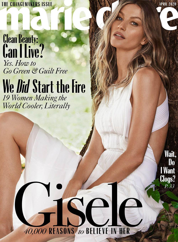 Gisele Bündchen covers Marie Claire US April 2020 by Nino Munoz