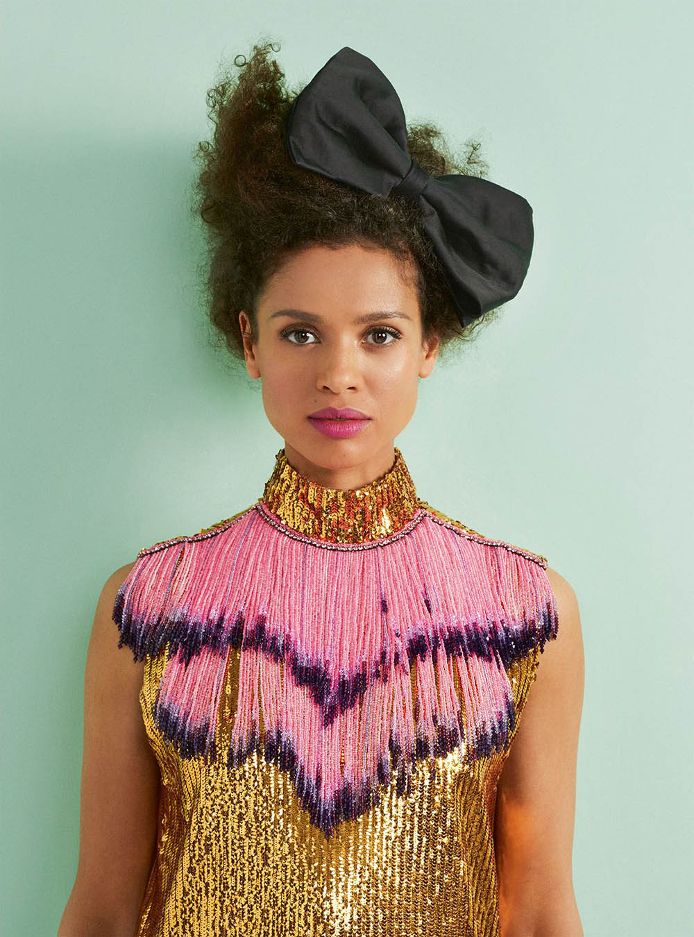 Gugu Mbatha-Raw covers Harper's Bazaar UK April 2020 by Richard Phibbs