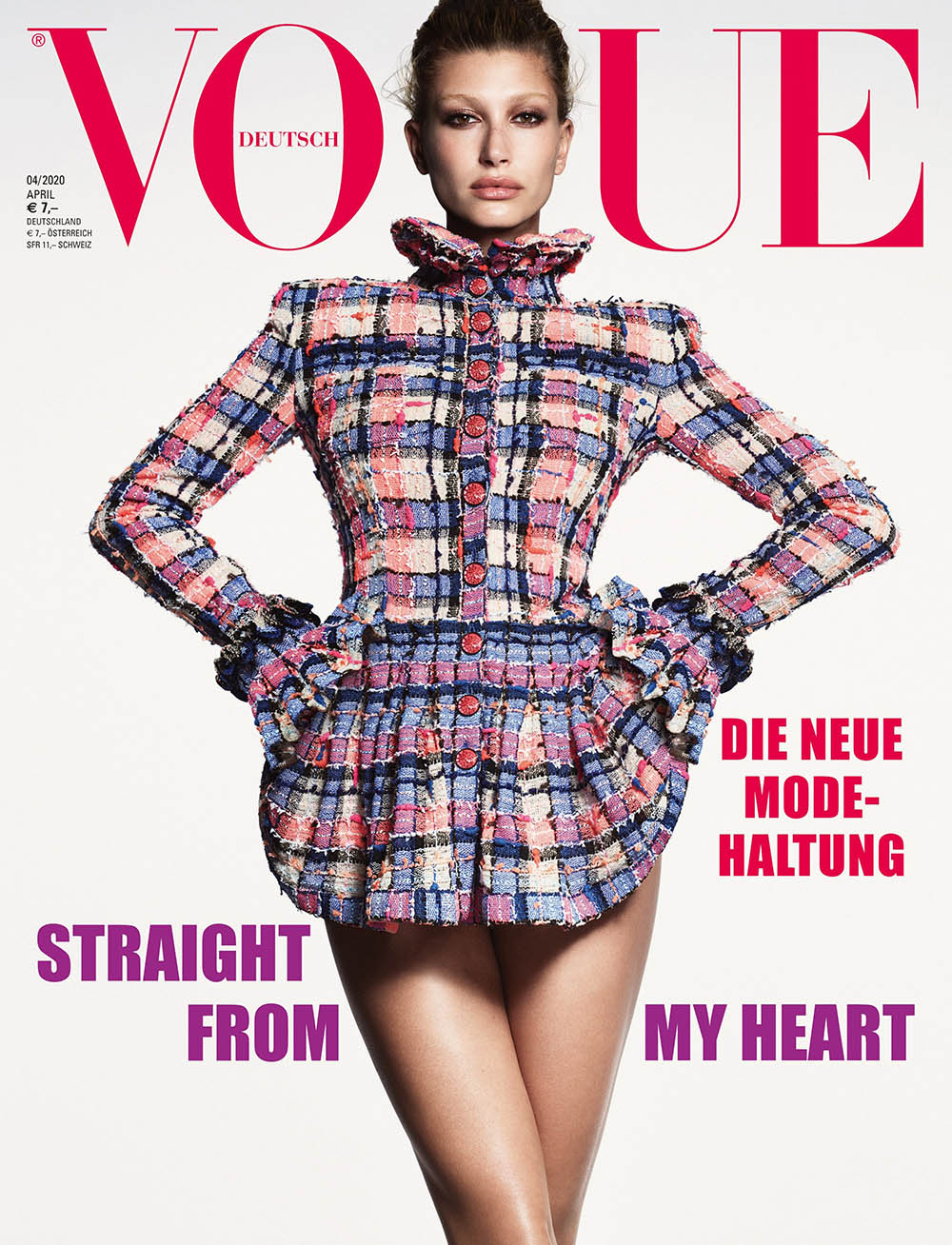Hailey Baldwin covers Vogue Germany April 2020 by Luigi & Iango
