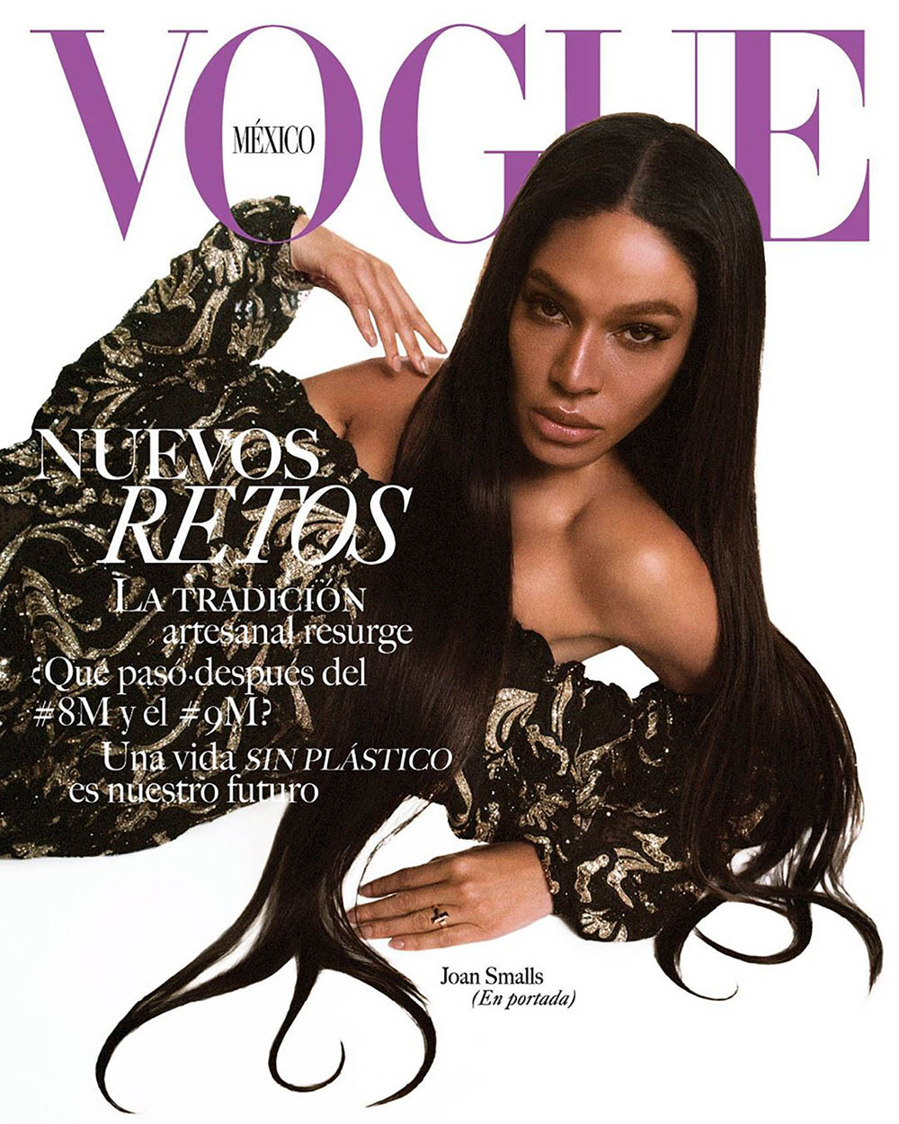 Joan Smalls and Bad Bunny cover Vogue Mexico & Latin America April 2020 by Gorka Postigo