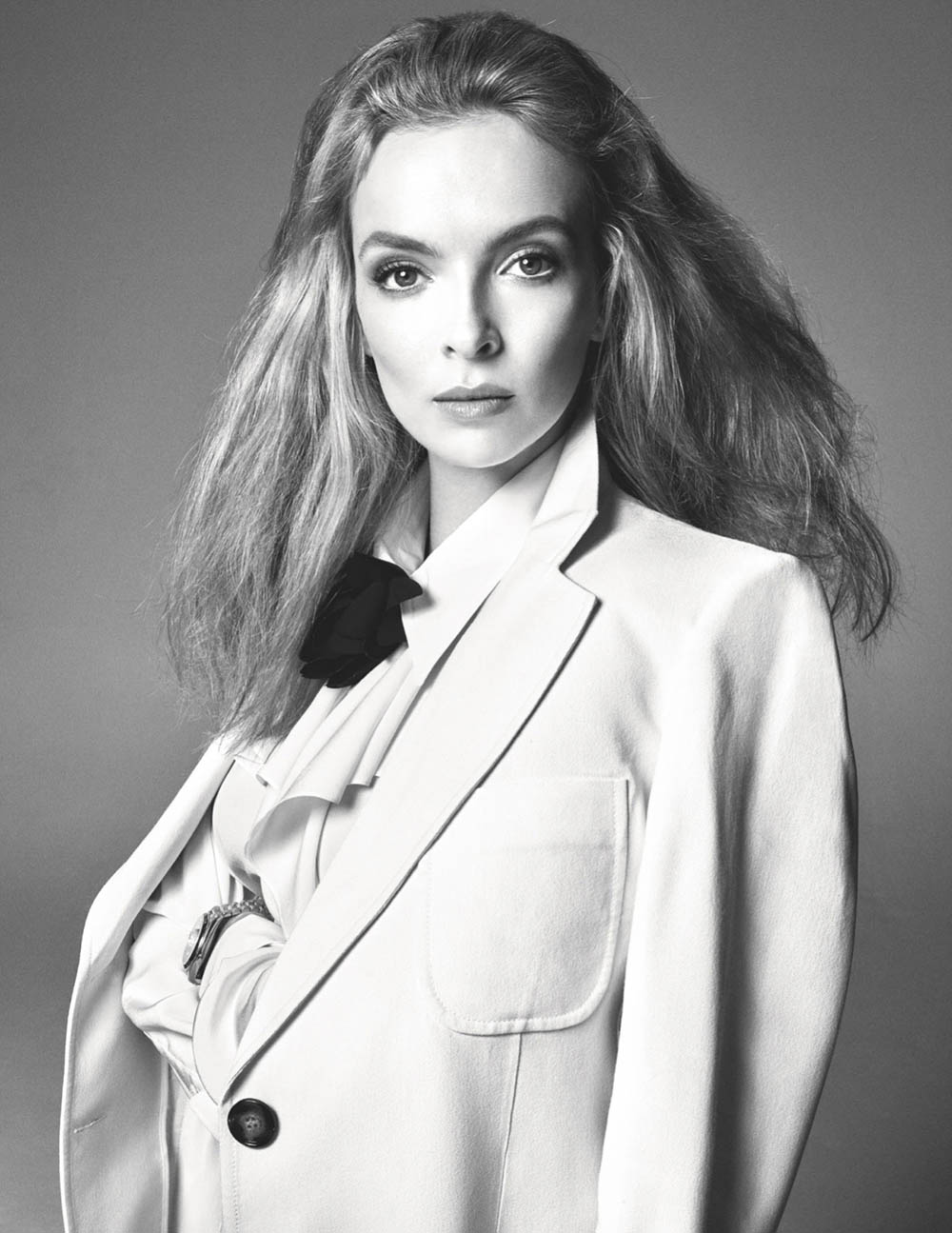 Jodie Comer covers British Vogue April 2020 by Steven Meisel