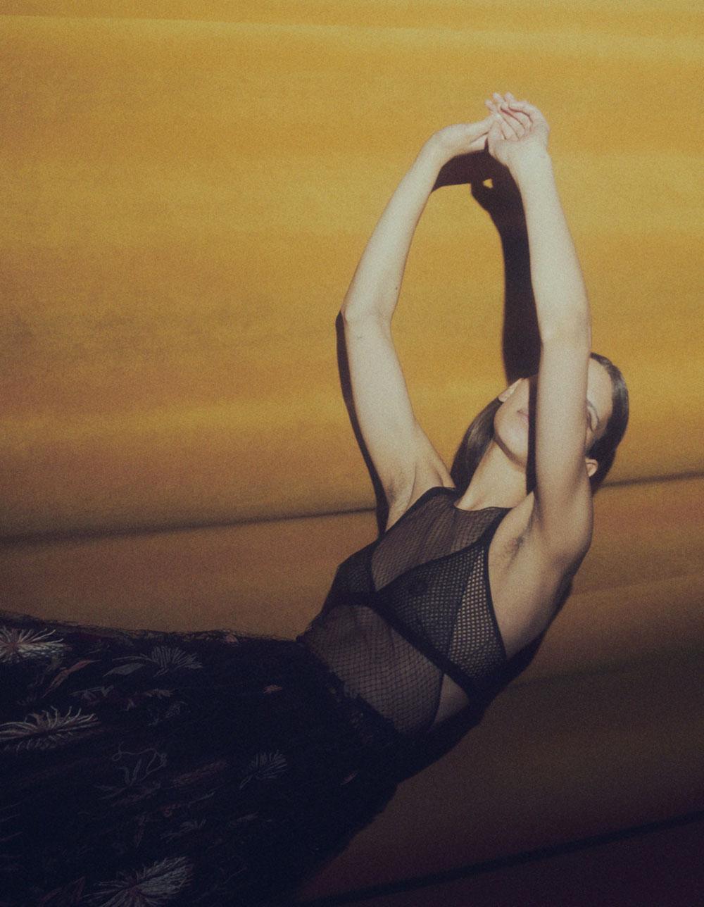 Kaya Wilkins covers Vogue Ukraine April 2020 by James Brodribb