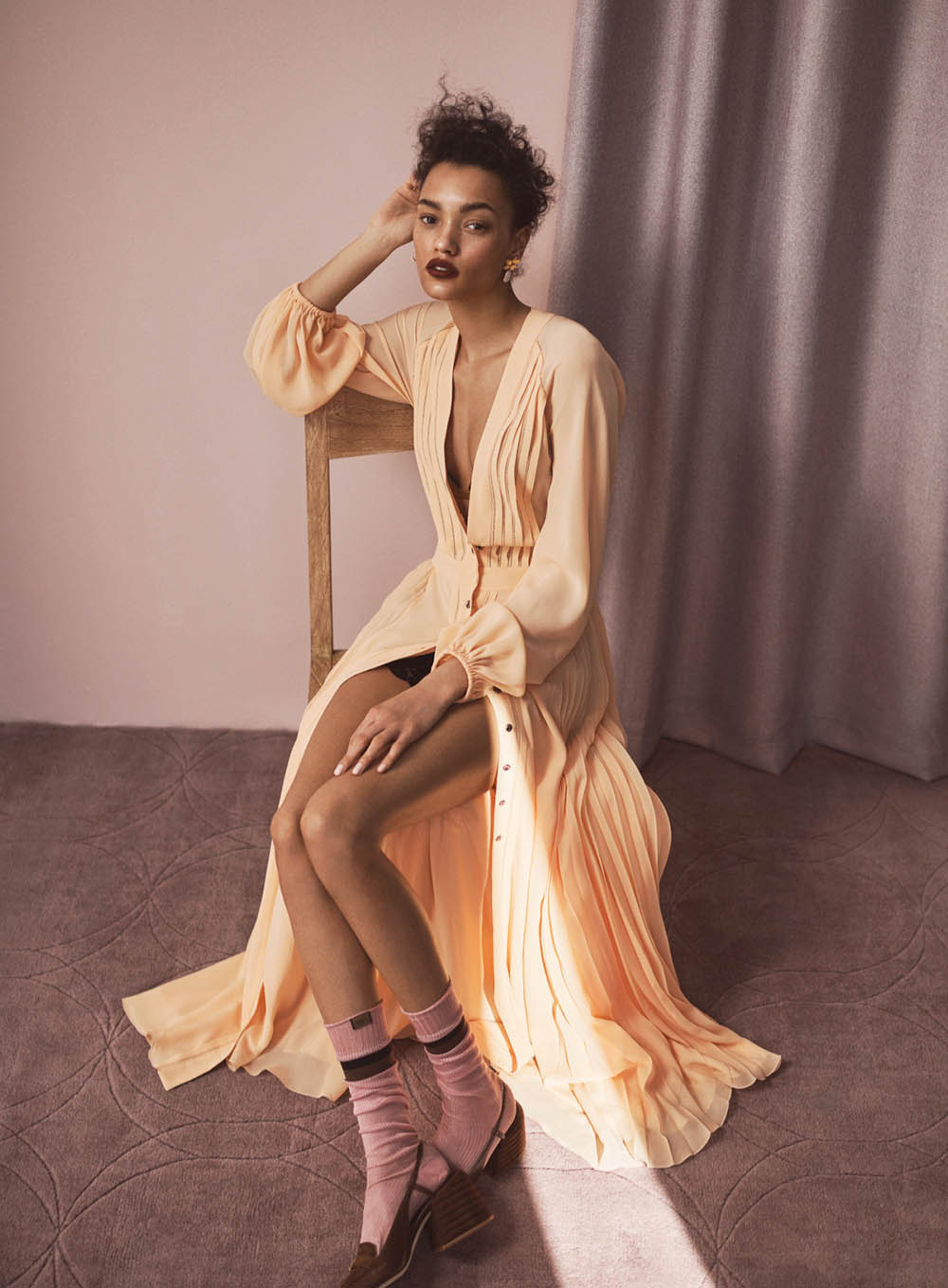 Lameka Fox by Steven Pan for InStyle US April 2020