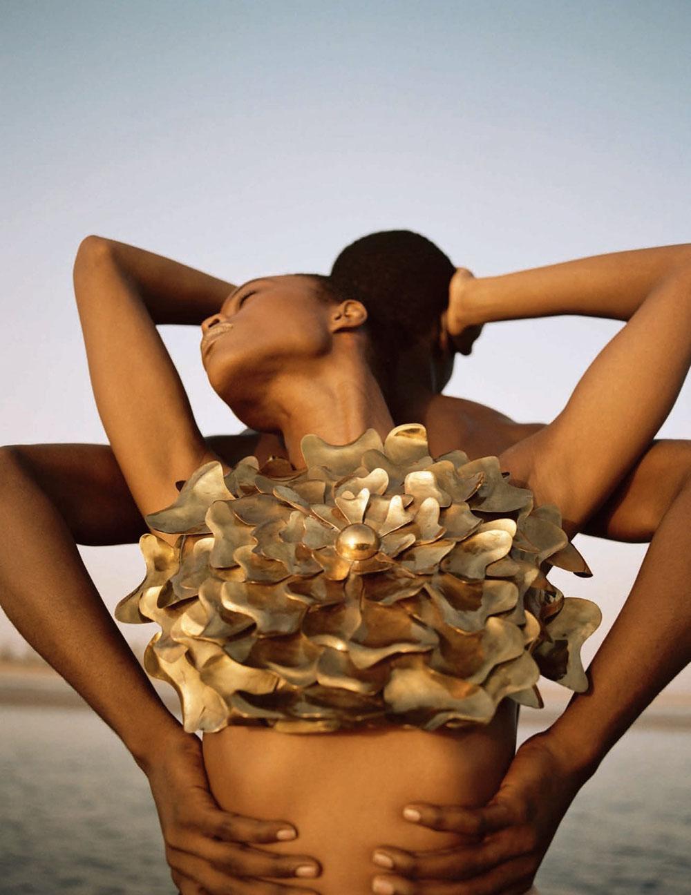 Mayowa Nicholas by Dan Beleiu for Vogue Spain April 2020