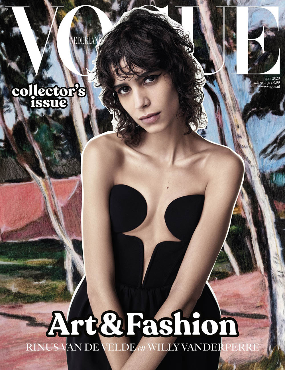Mica Argañaraz covers Vogue Netherlands April 2020 by Willy Vanderperre