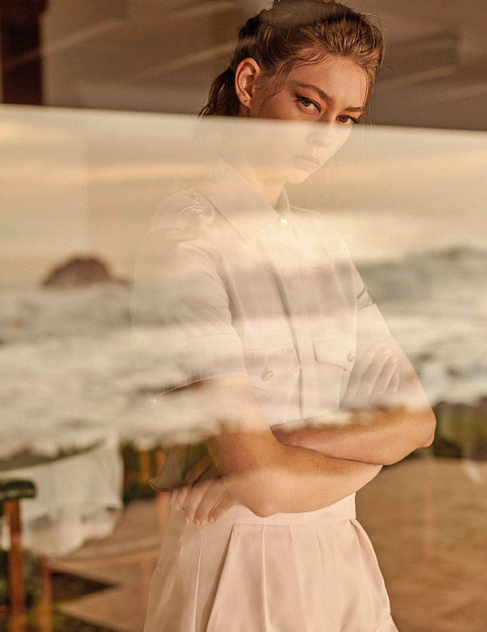 Ondria Hardin by Frederico Martins for Amica Magazine April 2020