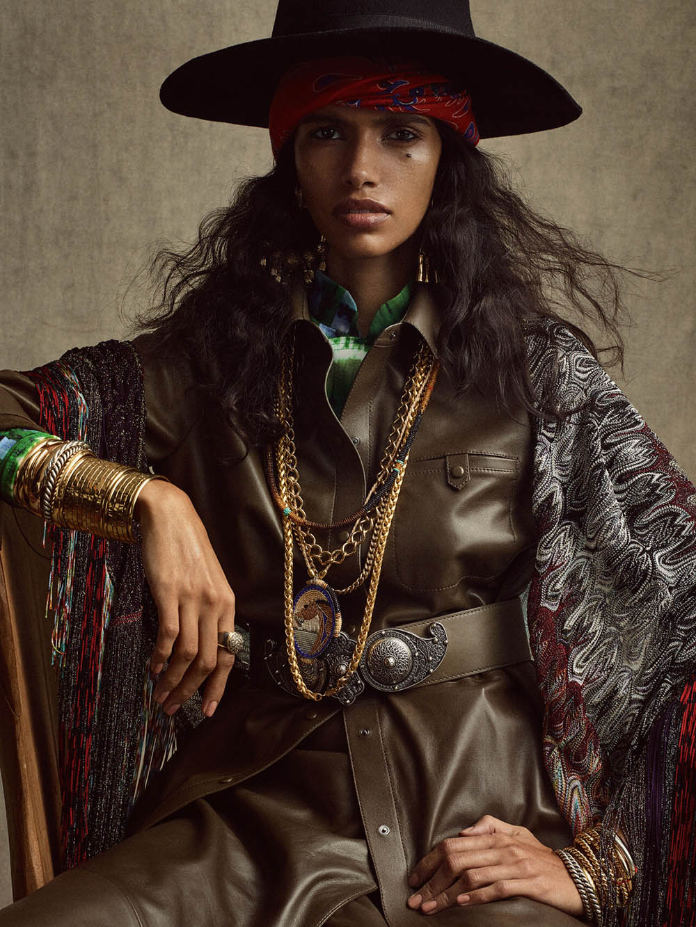Pooja Mor and Amrit by Gregory Harris for Vogue Paris April 2020
