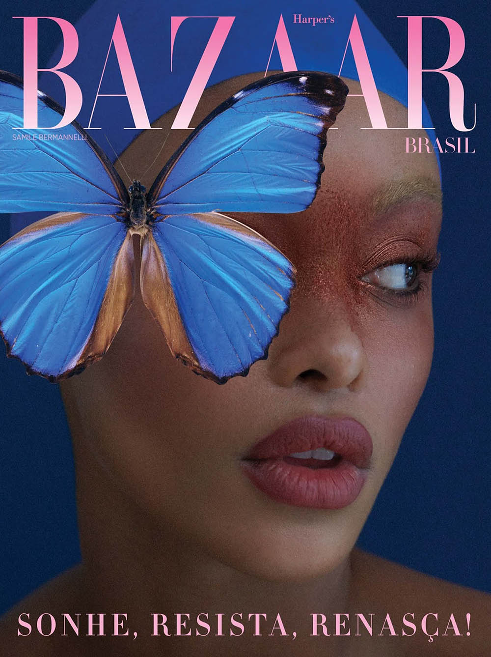 Samile Bermannelli covers Harper's Bazaar Brazil April 2020 by Alex Cayley