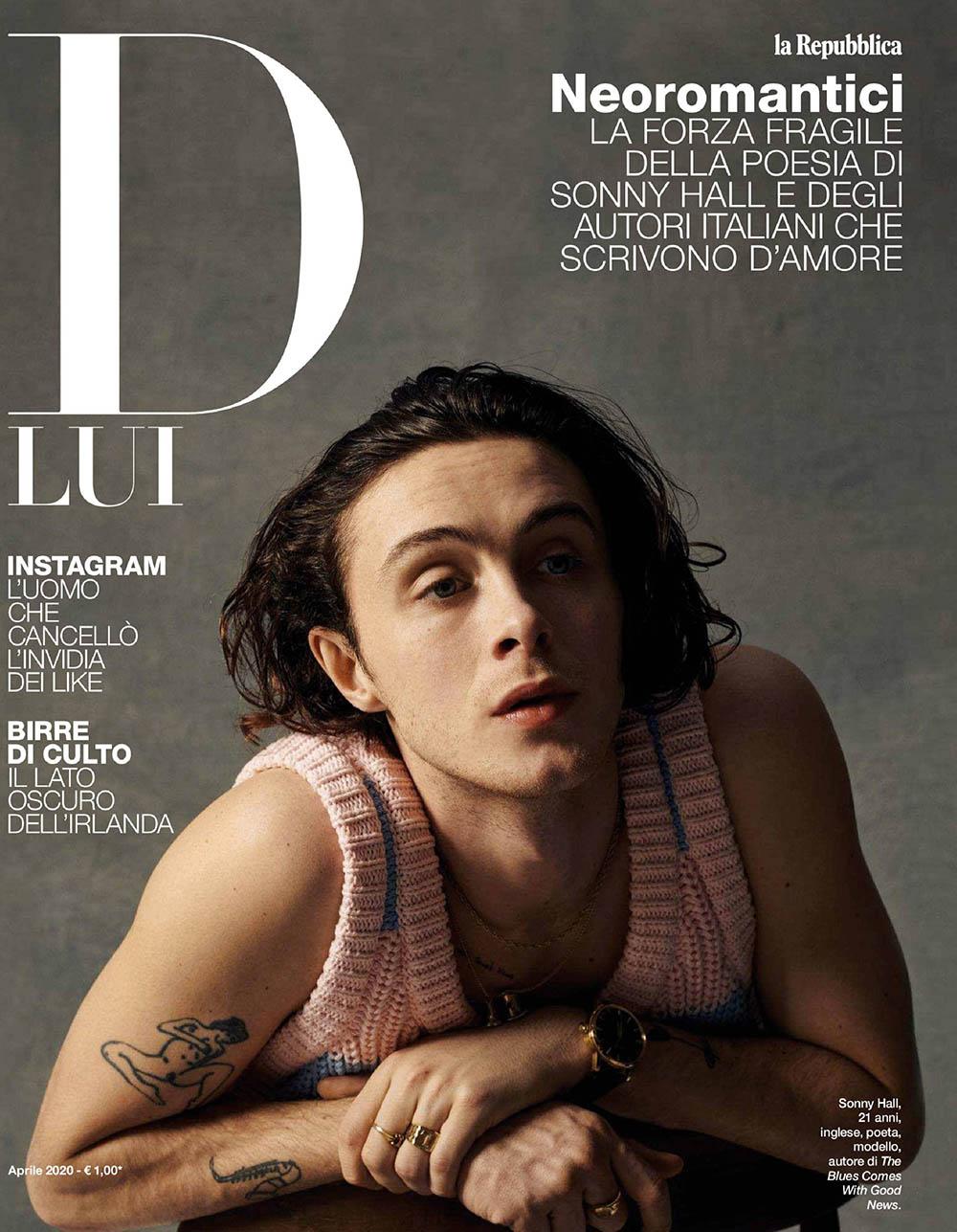 Sonny Hall covers D Lui la Repubblica April 2020 by Christophe Meimoon