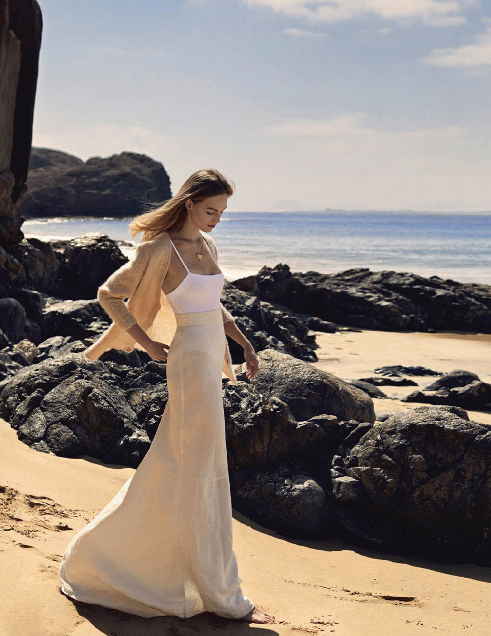 Vanessa Axente covers Harper's Bazaar Spain April 2020 by Xavi Gordo