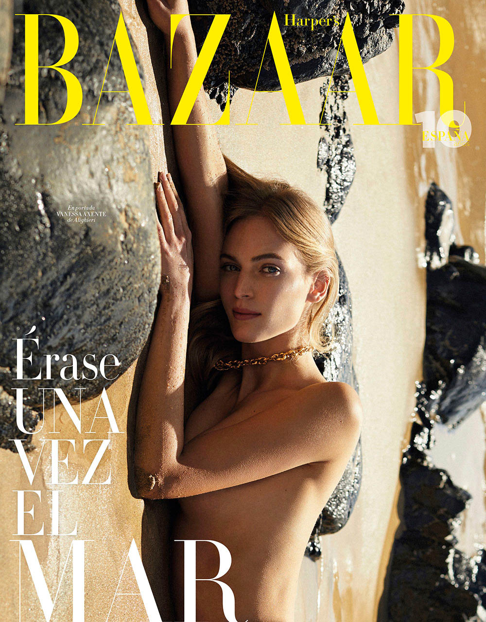 Vanessa Axente covers Harper's Bazaar Spain April 2020 by Xavi Gordo