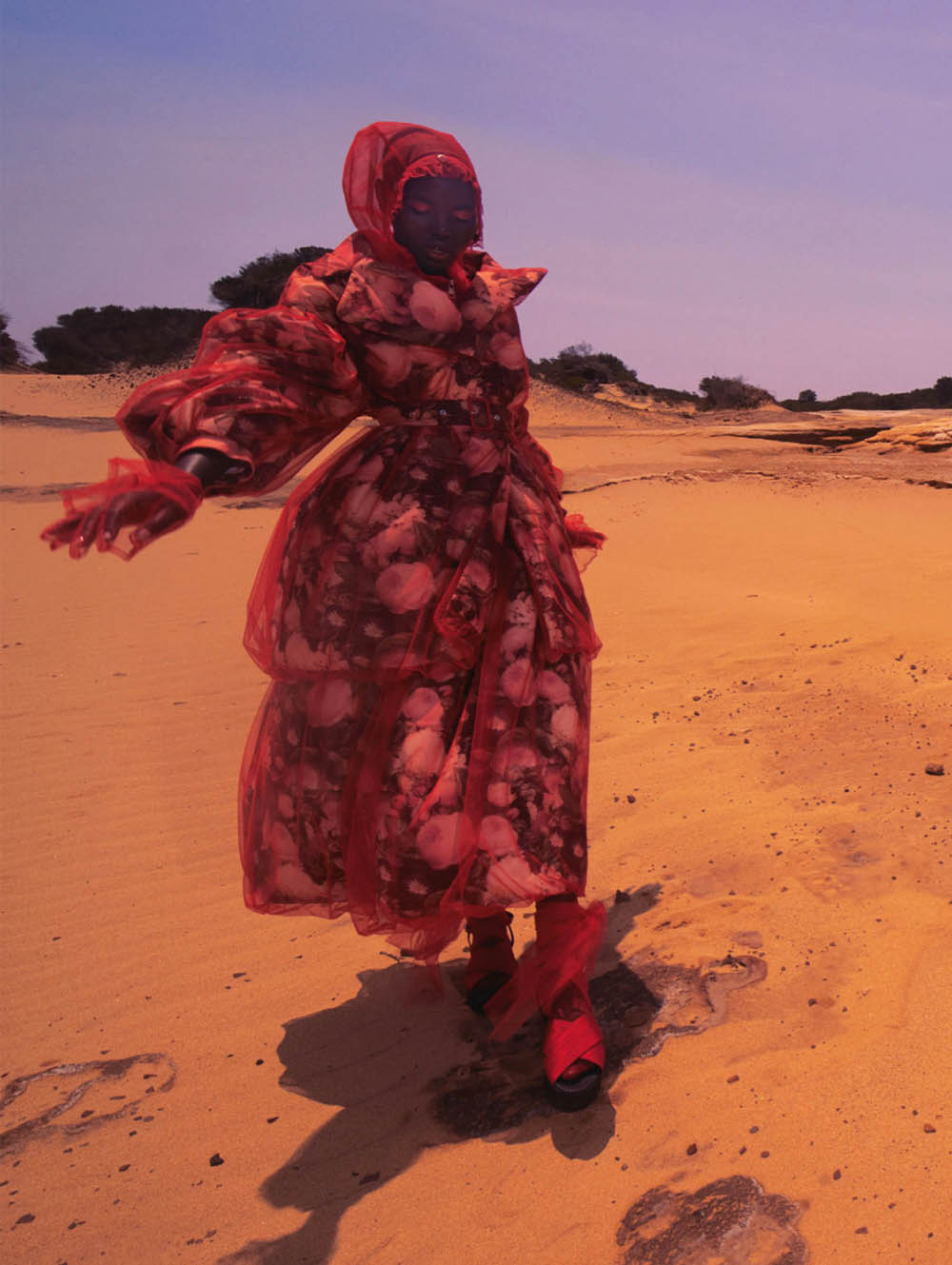 Adut Akech by Emma Summerton for British Vogue May 2020