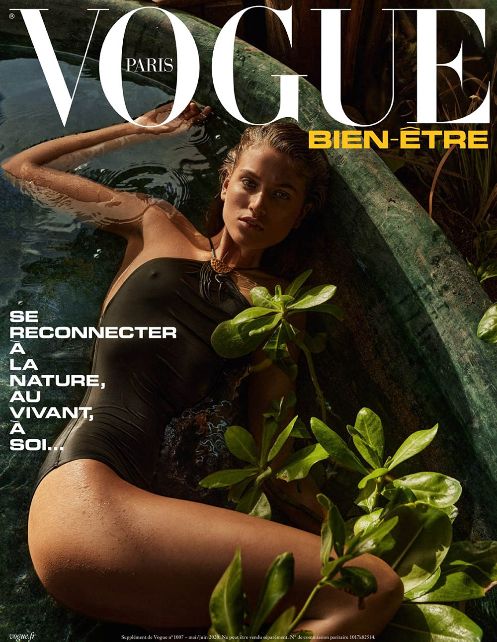 Altyn Simpson covers Vogue Wellness Paris May June 2020 by Alique