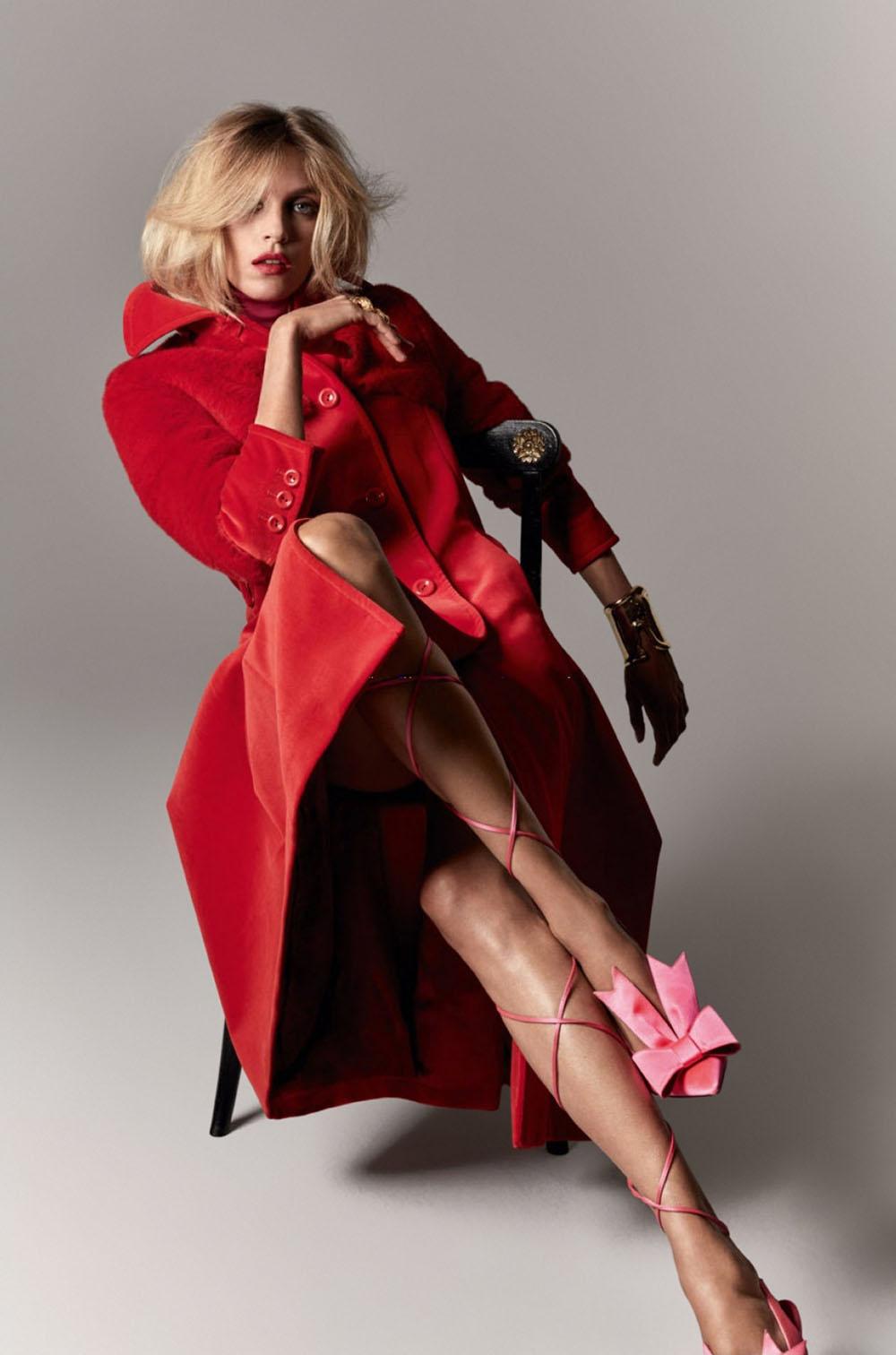 Anja Rubik by Julien Martinez Leclerc for Vogue Paris May/June 2020