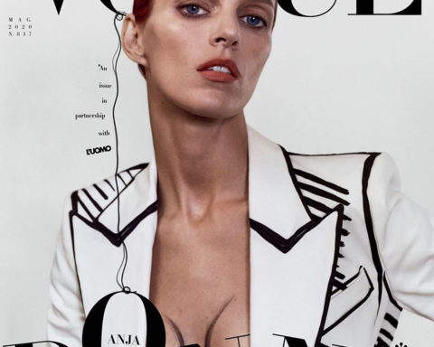 Anja Rubik covers Vogue Italia and L'Uomo Vogue May 2020 by Harley Weir