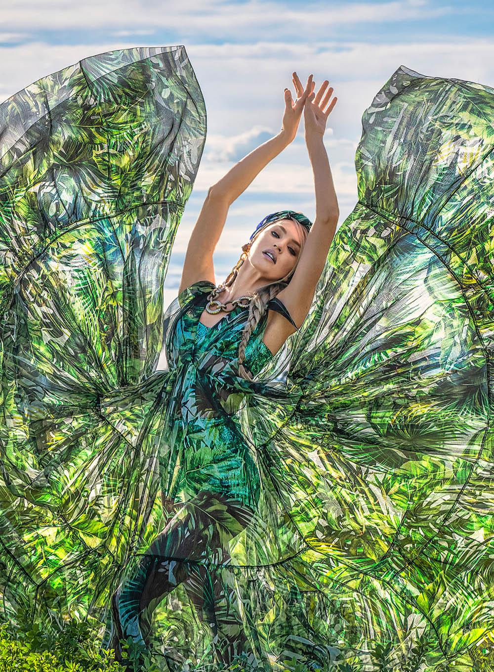 Candice Swanepoel by David Yarrow for Harper's Bazaar US May 2020