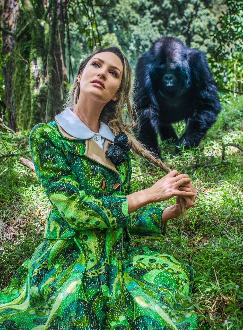 Candice Swanepoel by David Yarrow for Harper's Bazaar US May 2020