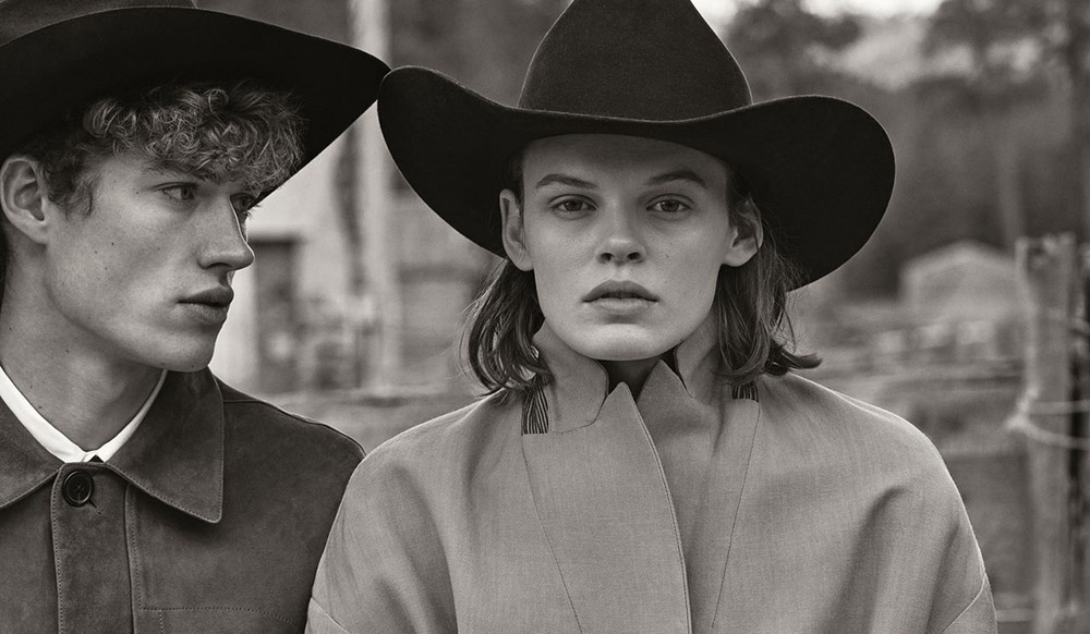 Cara Taylor and Valentin Humbroich by Christian MacDonald for WSJ. Magazine May 2020