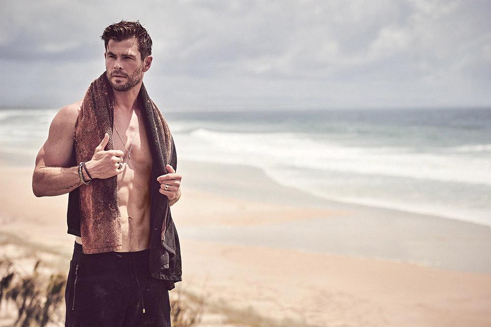 Chris Hemsworth covers GQ Australia May June 2020 by Matthew Brookes